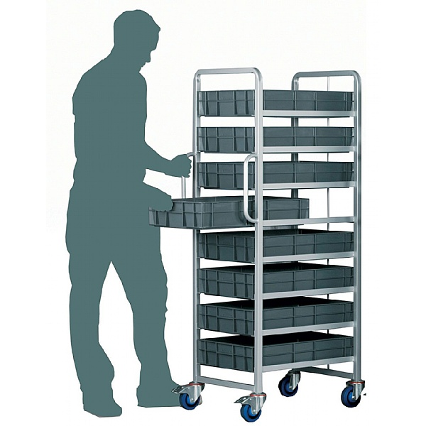 8 Tier Euro Container Trolley To Suit Up To 120mm High Containers
