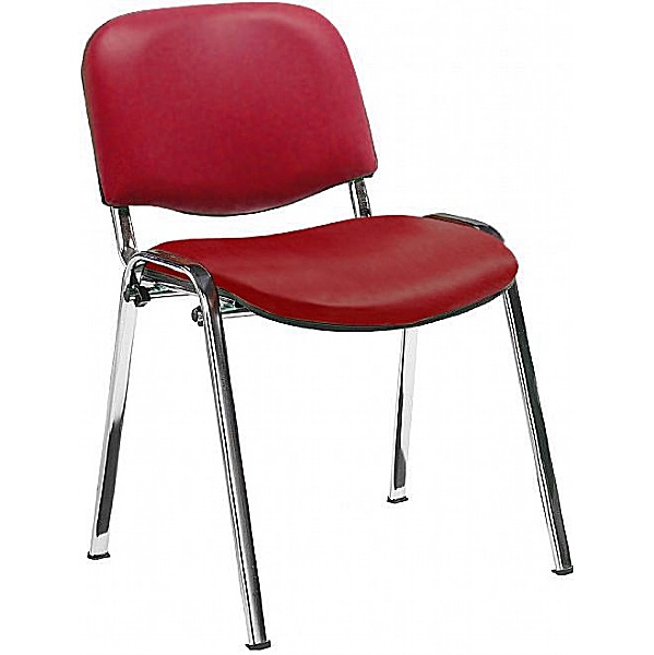 Swift Vinyl Conference Chair with Chrome Frame (Pack of 4 Chairs)