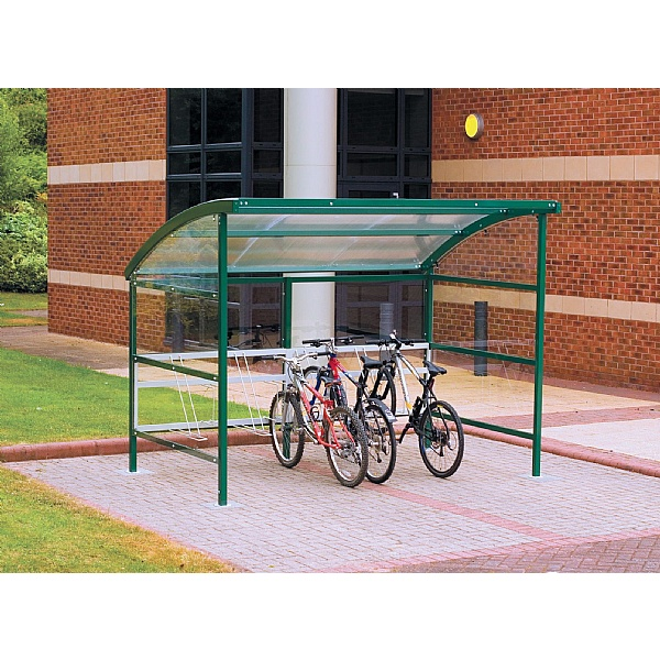 Premier Cycle Shelters - Clear Perspex Sides