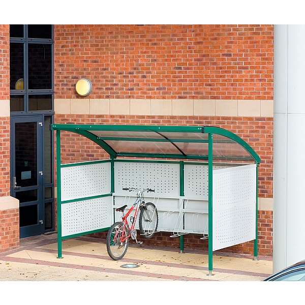 Premier Cycle Shelters - Perforated Sides