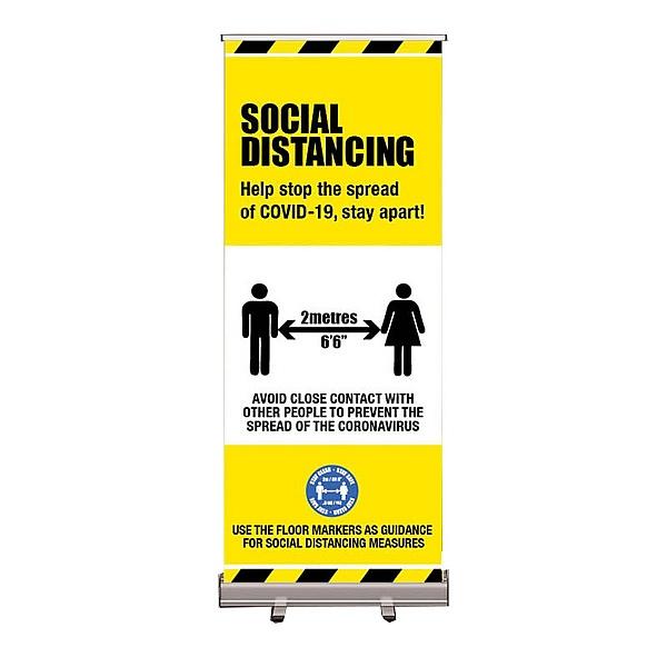 Social Distancing - Roller Banner 800W x 2000H
