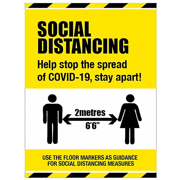 Social Distancing Sign - Help Stop The Spread -  Stay Apart