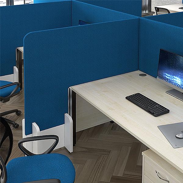 Armor Fabric Floor Standing Desk Dividers