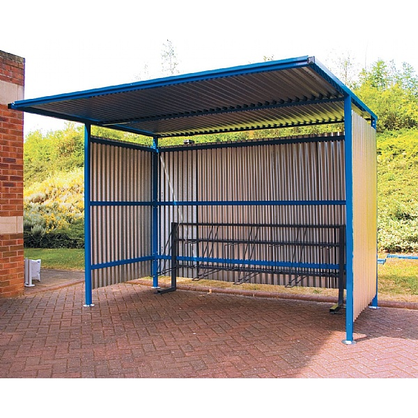 Classic Cycle Shelter - Galvanised Sides