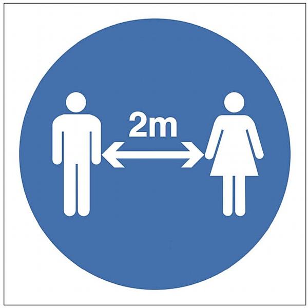 2 Metre Distancing Symbol Signs