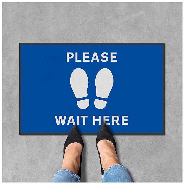 Coba Please Wait Here Footprint Floor Mat - Pack of 2
