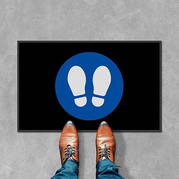 Coba Footprints Floor Mat - Pack of 2