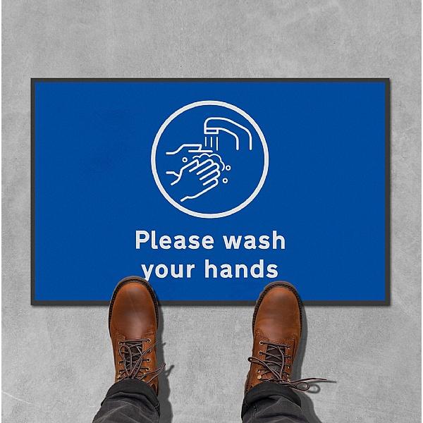 Coba Please Wash Hands Floor Mat - Pack of 2