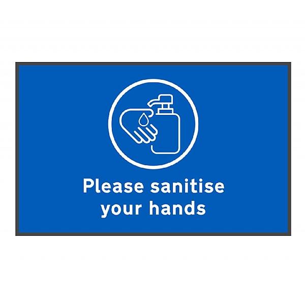 Coba Please Sanitise Hands Floor Mat - Pack of 2