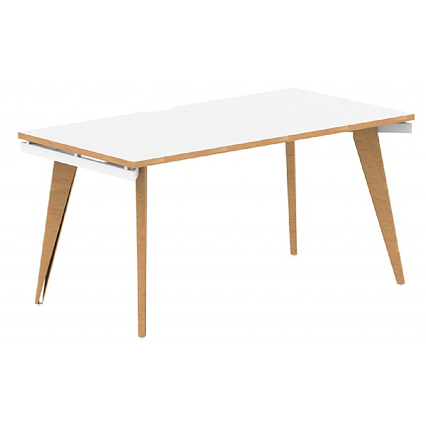 Bianco Rectangular Bench Desk