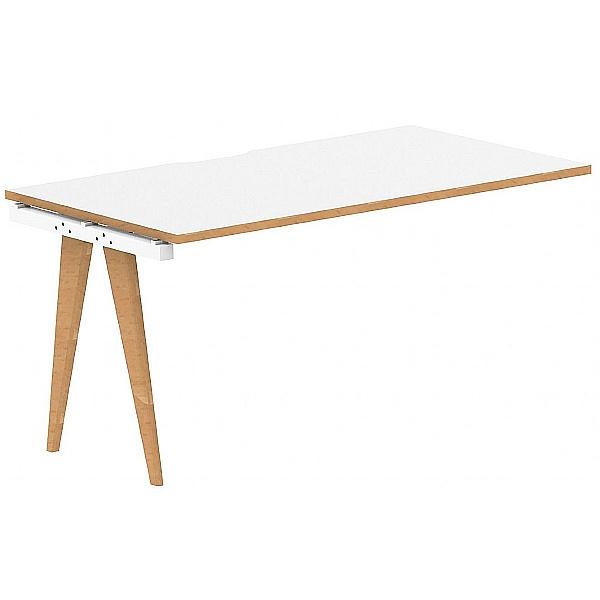 Bianco Rectangular Bench Desk Extension