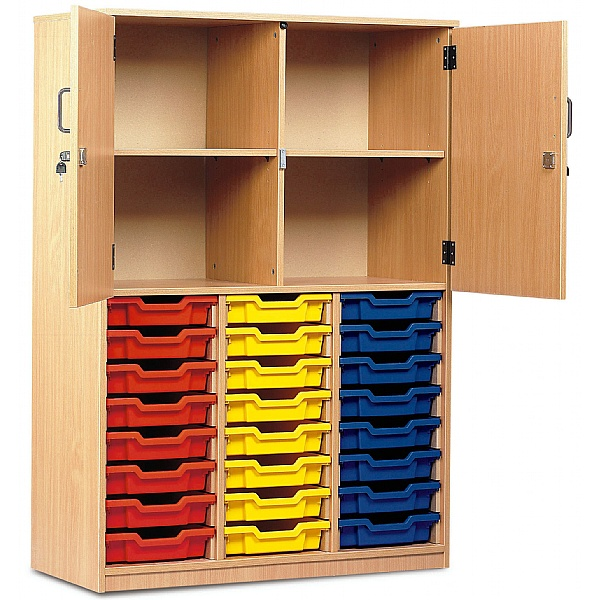 Large Volume Tray Storage Combination Cupboard