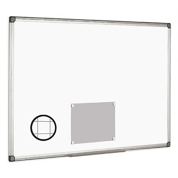 Bi-Office Magnetic Gridded Whiteboard