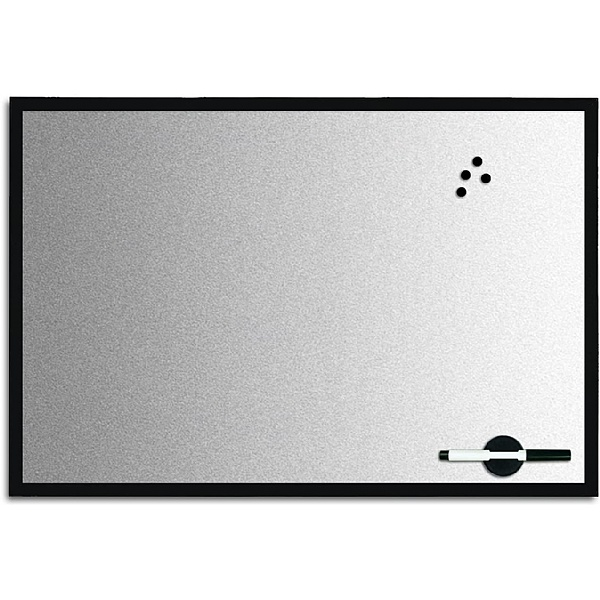 Bi-Office Magnetic Designer Whiteboards (Silver Finish)