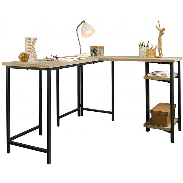 Foundry Industrial Style L-Shaped Computer Desk