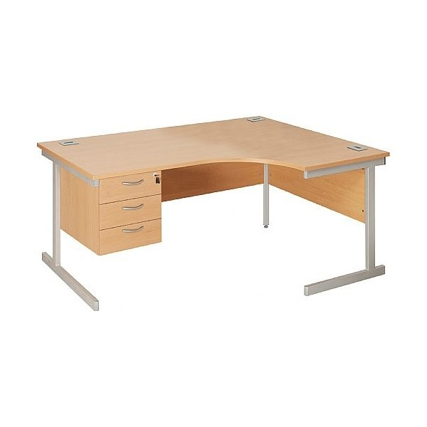 NEXT DAY Commerce II Ergonomic Desks With Fixed Pedestal