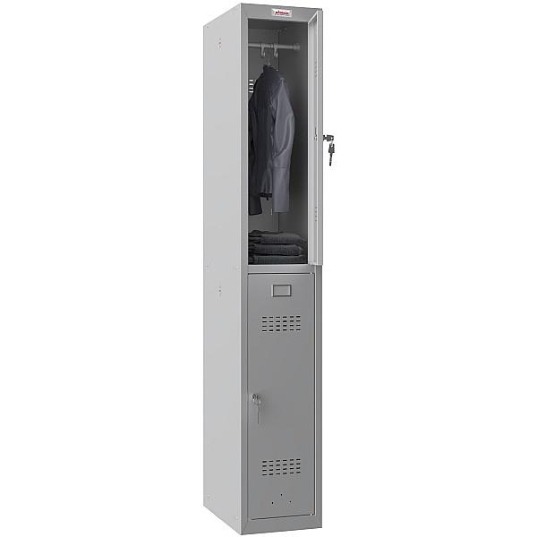 Phoenix PL Series Personal Lockers - 2 Door 1 Column With Key Lock