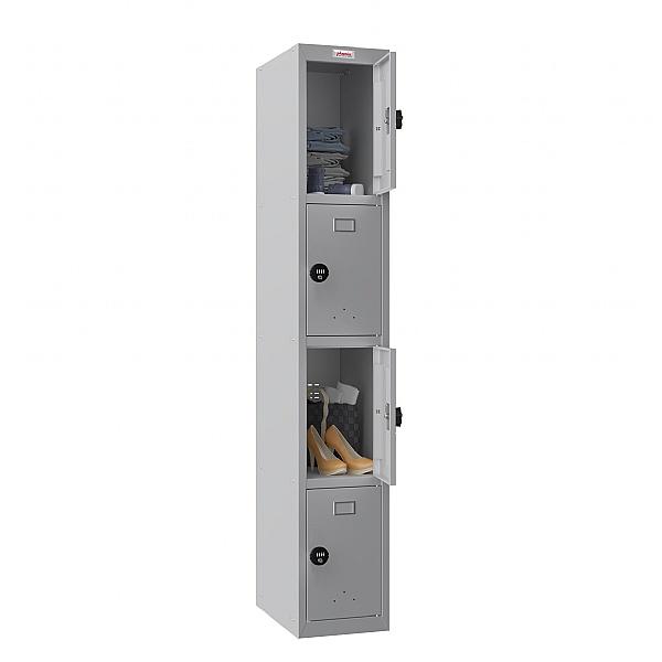 Phoenix PL Series Personal Lockers - 4 Door 1 Column With Combination Lock