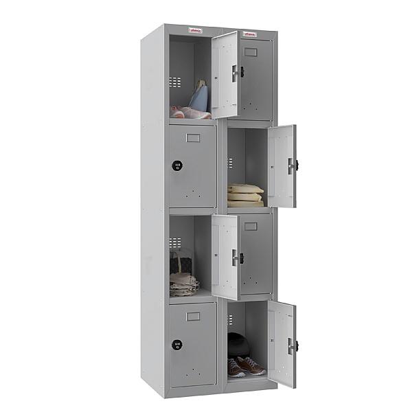 Phoenix PL Series Personal Lockers - 8 Door 2 Column With Combination Lock
