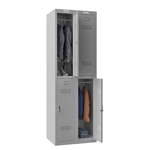 Phoenix PL Series Personal Lockers - 4 Door 2 Column With Electronic Lock