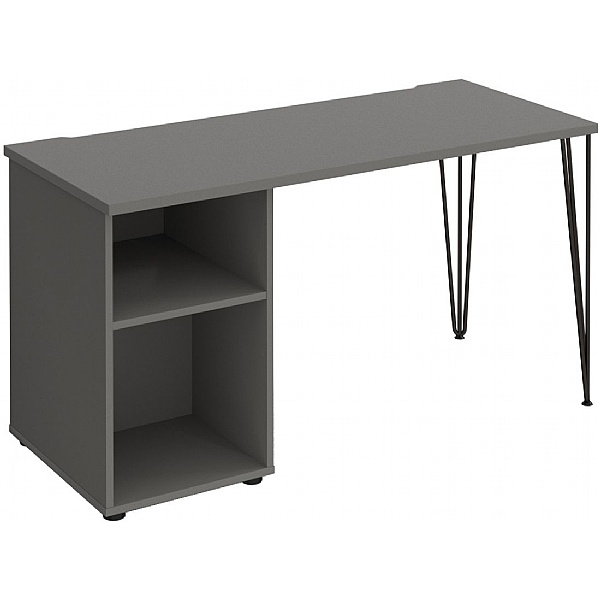 Flores Home Office Desk with Fixed Open Pedestal