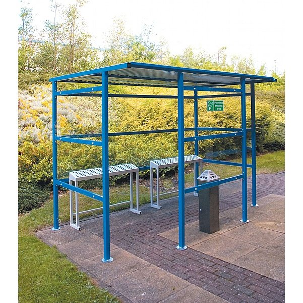 Classic Smoking Shelters - Perspex Back