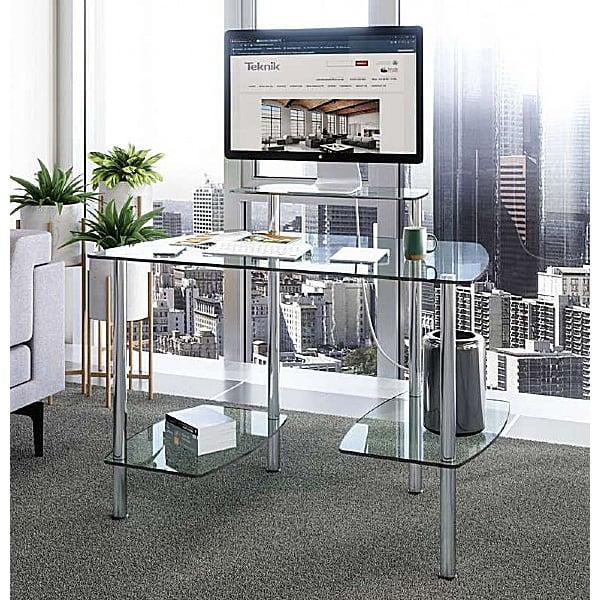 Glacier Glass Computer Desk