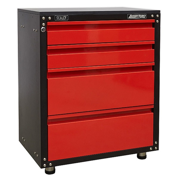 Sealey American Pro Modular 4 Drawer Cabinet with Worktop