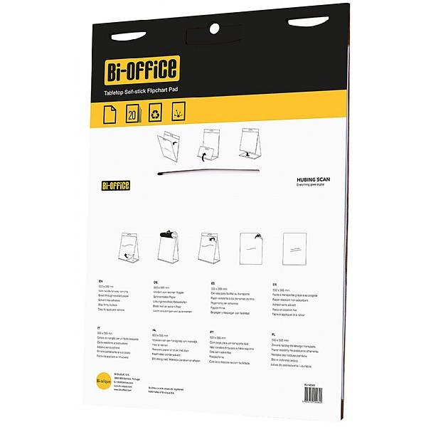 Bi-Office Tabletop Self Stick Flipchart Pad