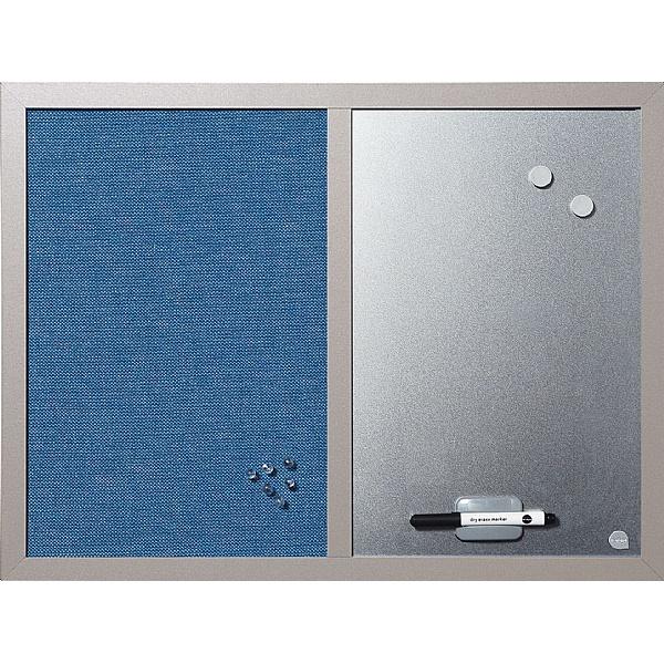 Bi-Office Blue Pearl Combination Board
