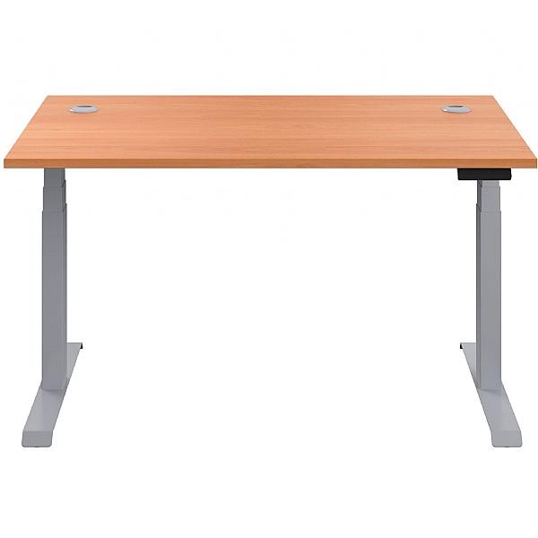 Commerce II Height Adjustable Rectangular Sit-Stand Desks