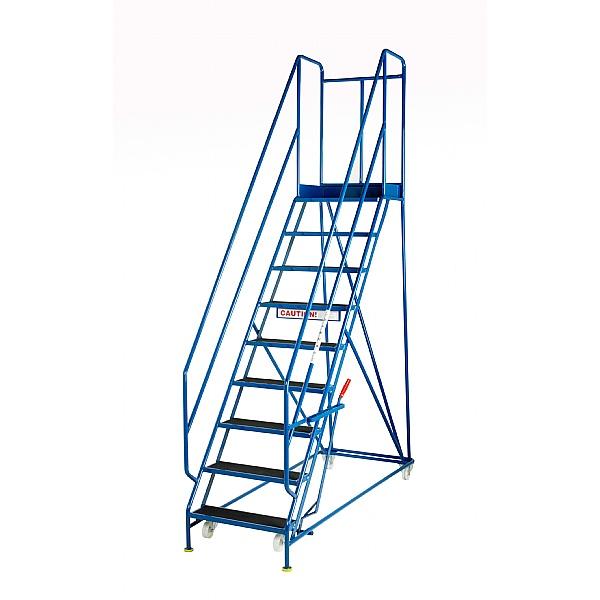 Steptek Quality Blue Range Mobile Steps - 610Wmm Treads