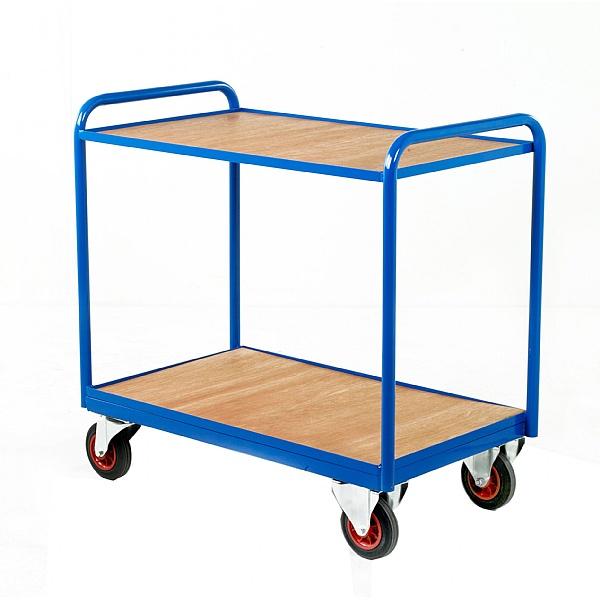 2 Tier Industrial Tray Trolleys