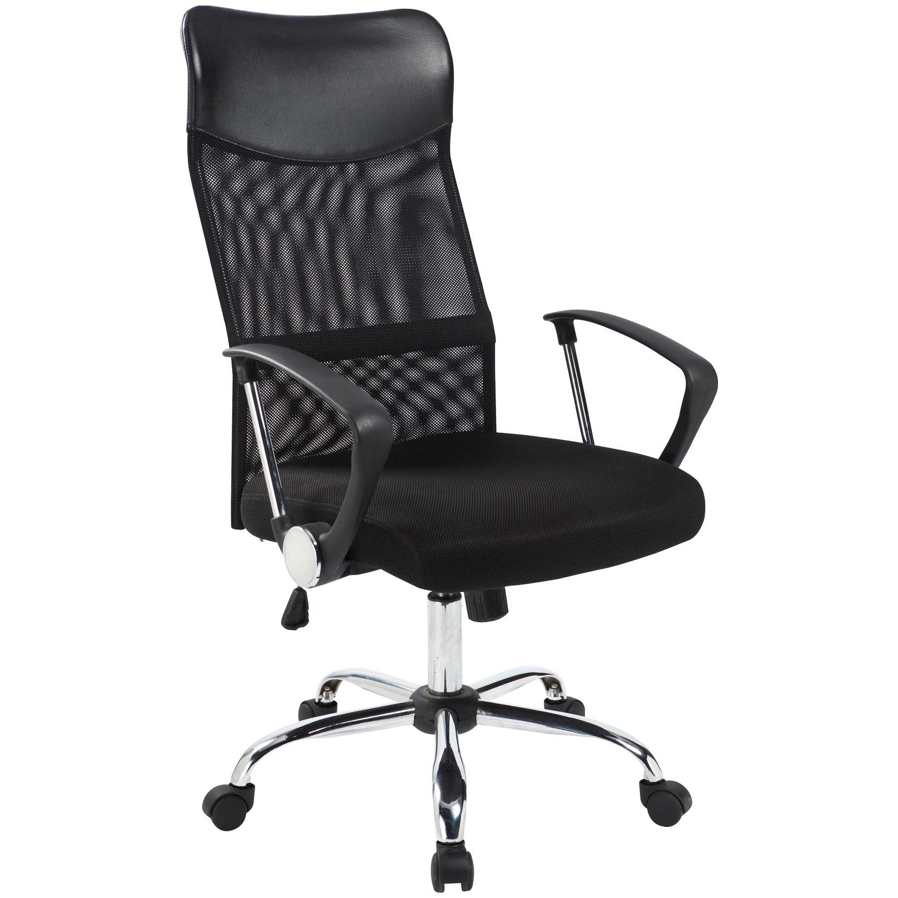 Aster High Back Mesh Office Chair Black Operator Task Chairs