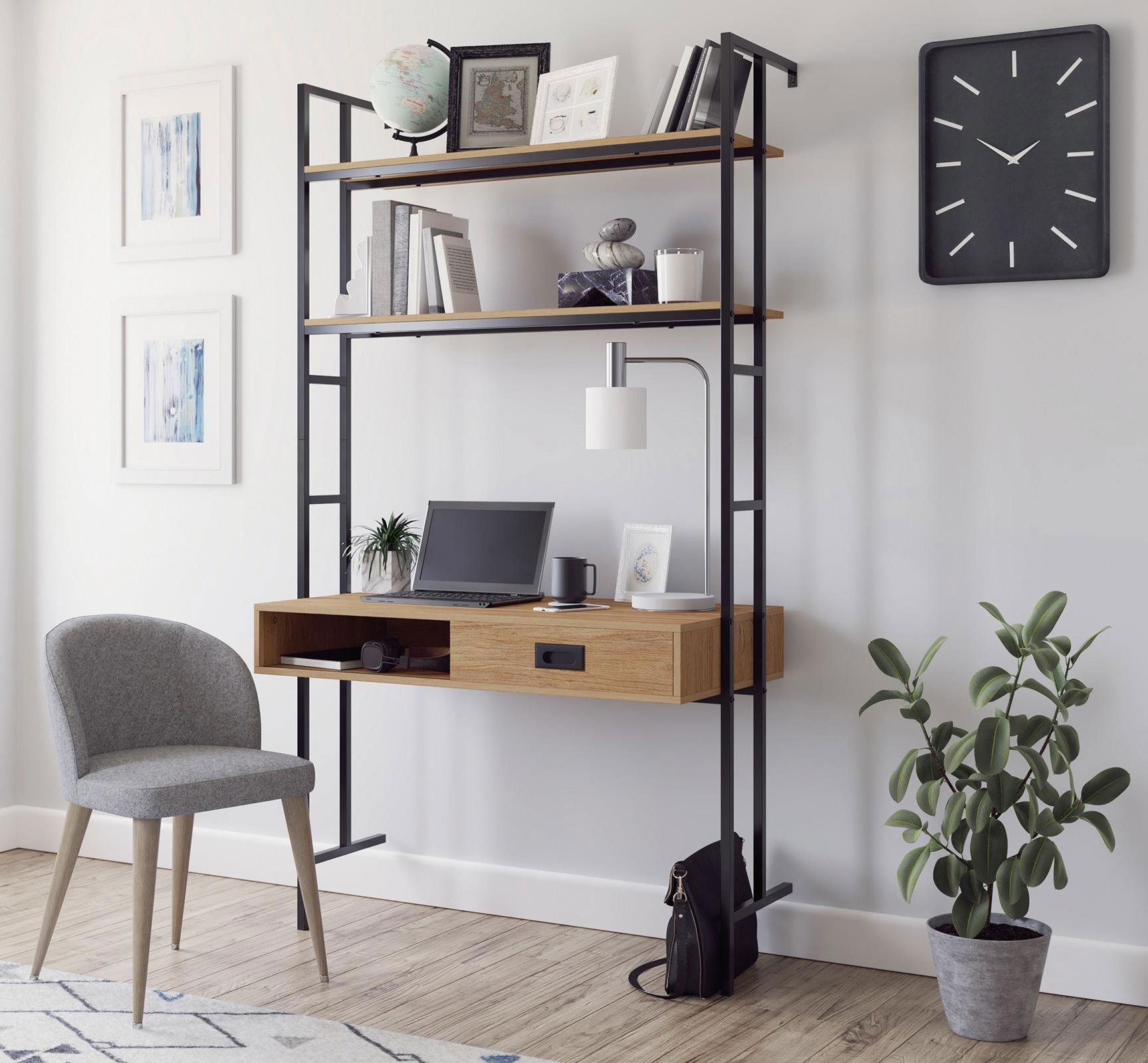 Factor Industrial Style Wall Mounted Home Office Desk Home Computer Desks